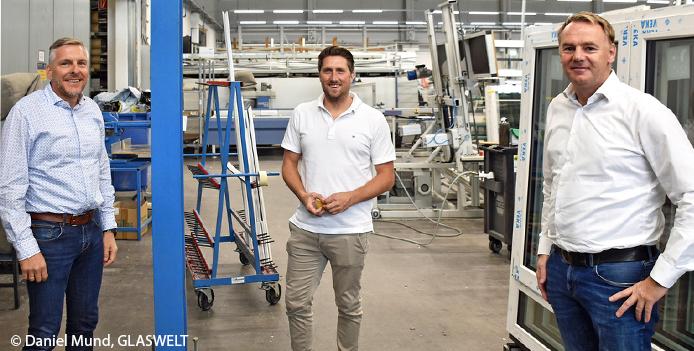 VEKA representative and DBS CEO at LEICHT Fenster & Türen
