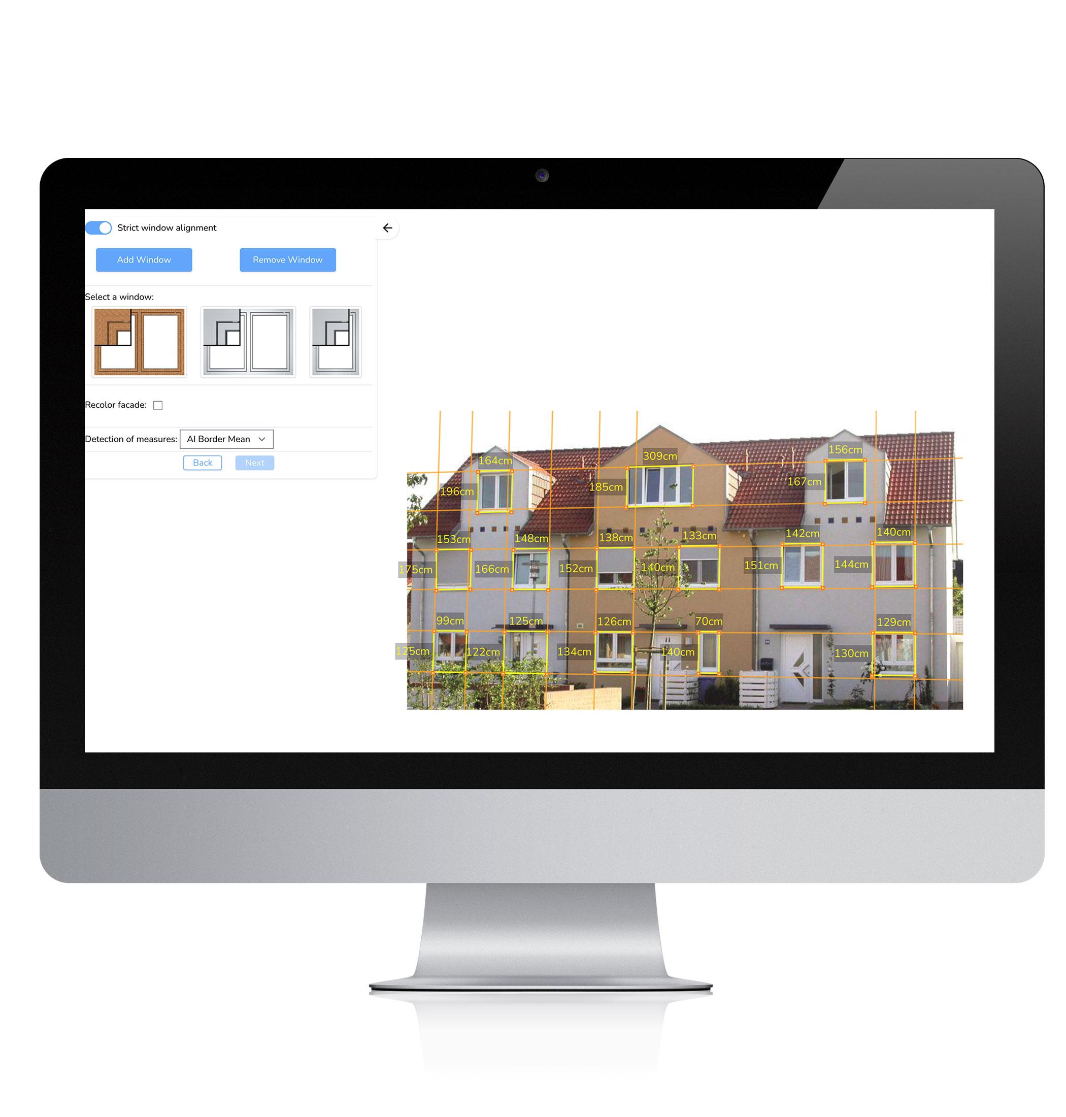 FassadenErlebnis als Web-Anwendung am Desktop
